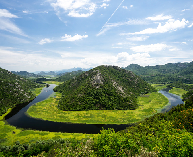 Skadar Lake River crnojevic montenegro