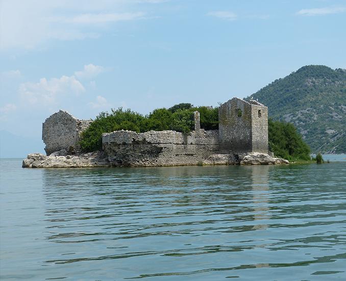 monasteries and fortress lake skadar